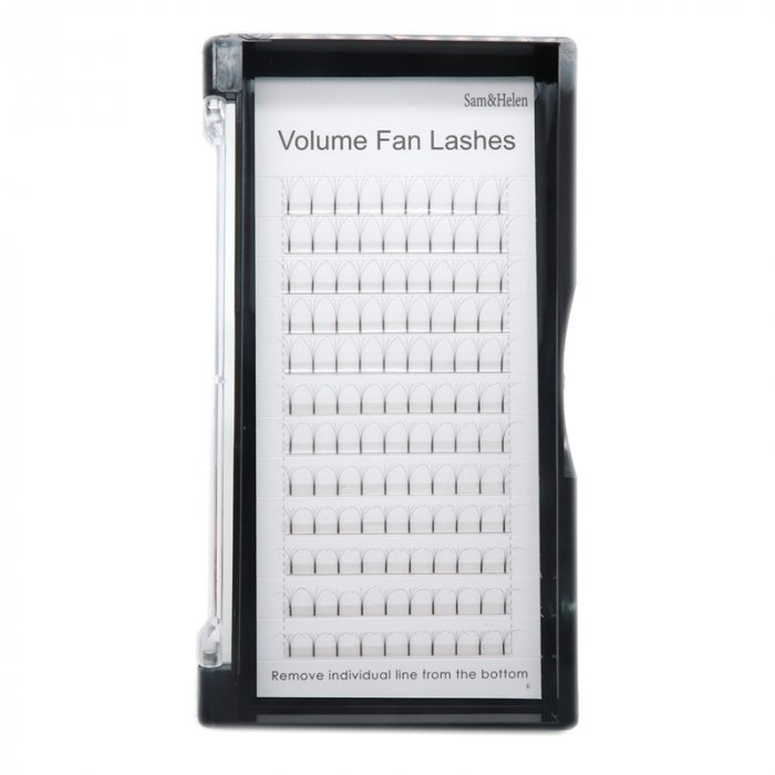 4D Pre-made fan lashes long stem