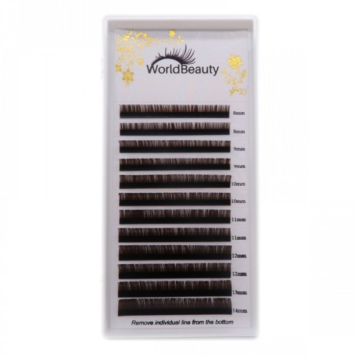 0.07mm D curl Coffee color eyelash extensions