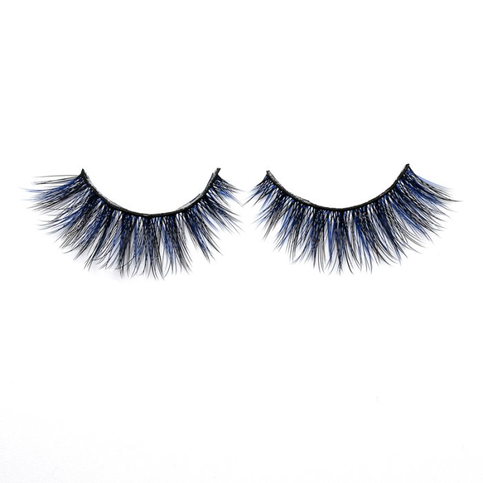 3D Colored  Korean silk lashes-19L
