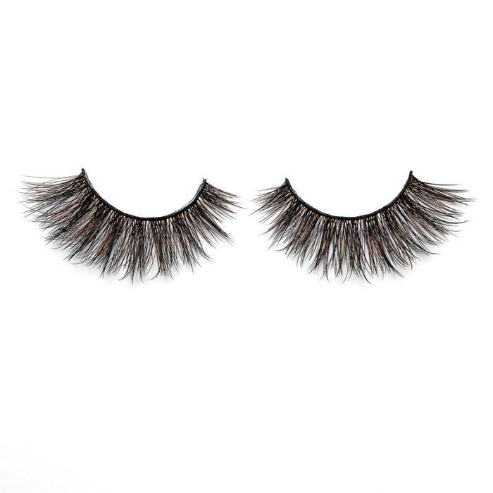 3D Colored  Korean silk lashes-62F