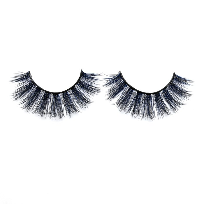 3D Colored  Korean silk lashes-58L