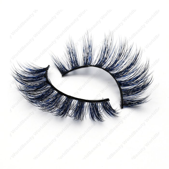 3D Colored Korean silk lashes-14L - World beauty lashes-Biggest
