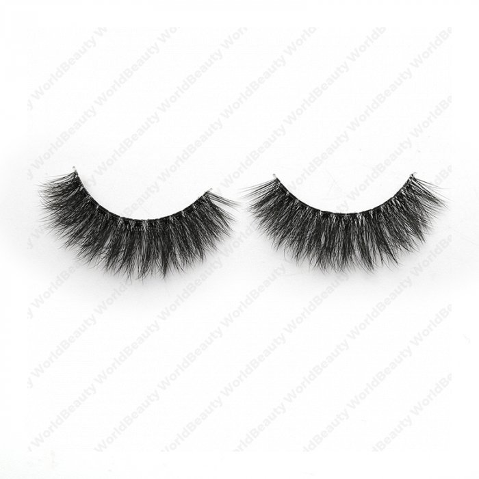 3D faux mink lashes clear band DB-01