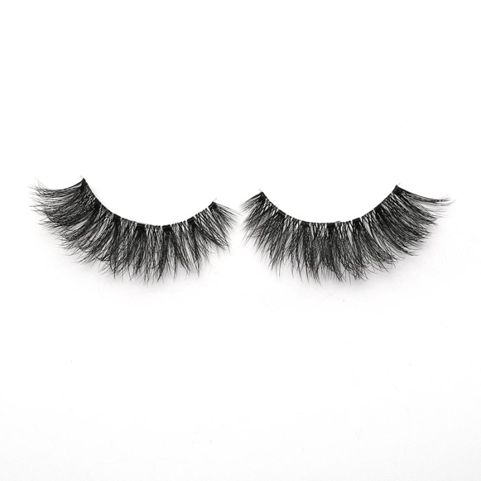 3D faux mink lashes clear band DA-12