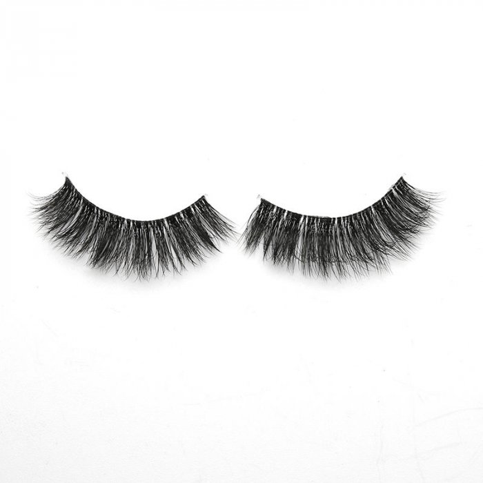 3D faux mink lashes clear band DA-08
