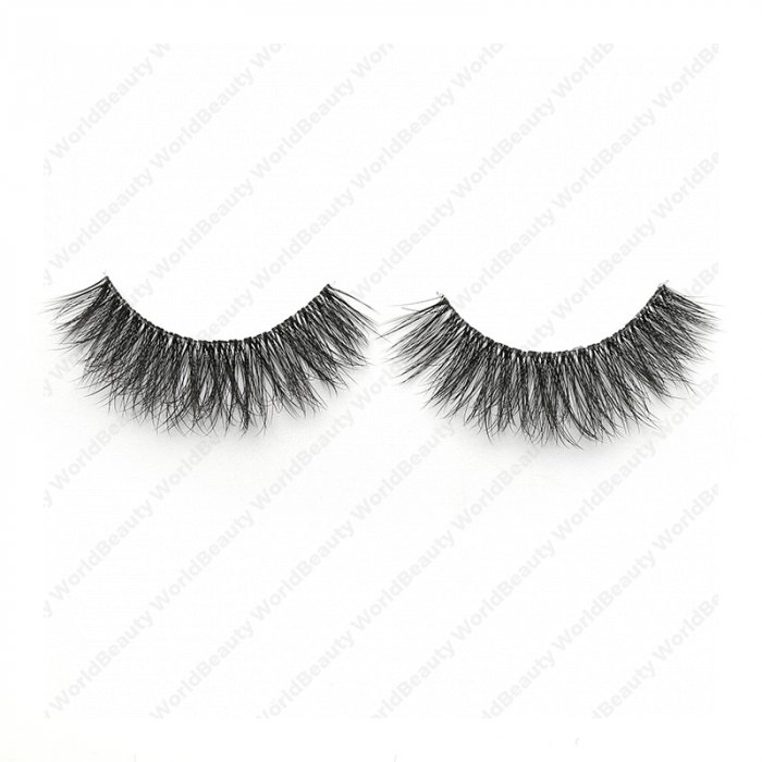 3D faux mink lashes clear band DB-35L