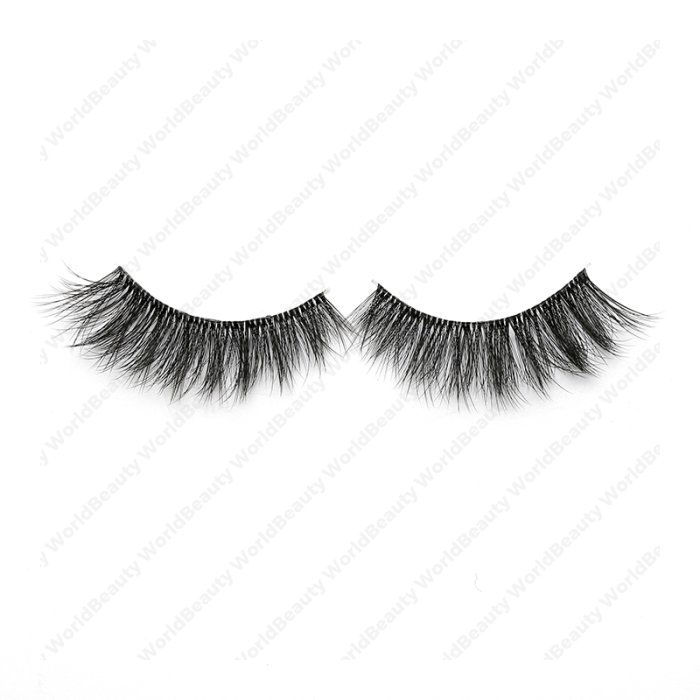 3D faux mink lashes clear band DB-02