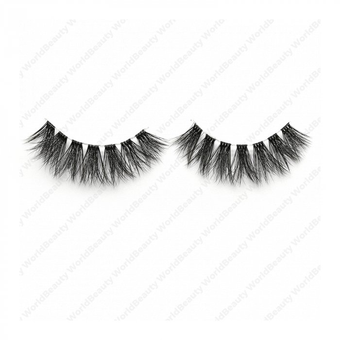 3D faux mink lashes clear band DB-23