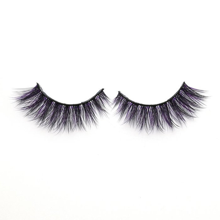 3D Colored  Korean silk lashes-019Z