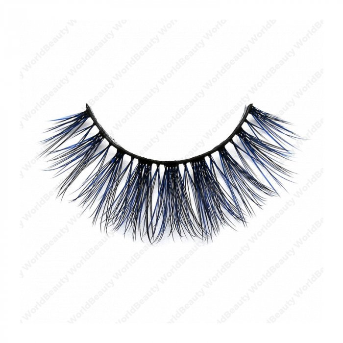 3D Colored Korean silk lashes-219L - World beauty lashes-Biggest