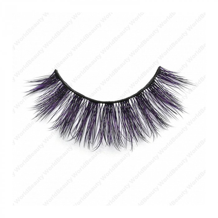 3D Colored Korean silk lashes-058Z - World beauty lashes