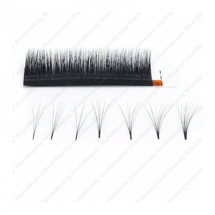 0.07mm C curl multi-length Auto fan eyelash extensions