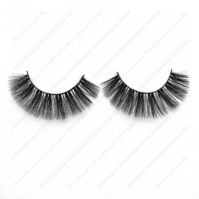 3D faux mink lashes black band NA-07