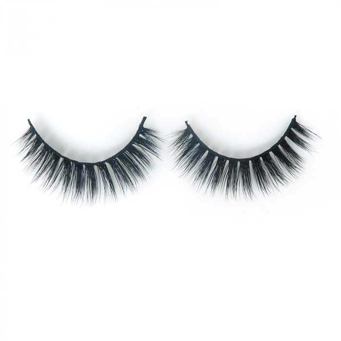 DE03---3D faux mink lashes black band