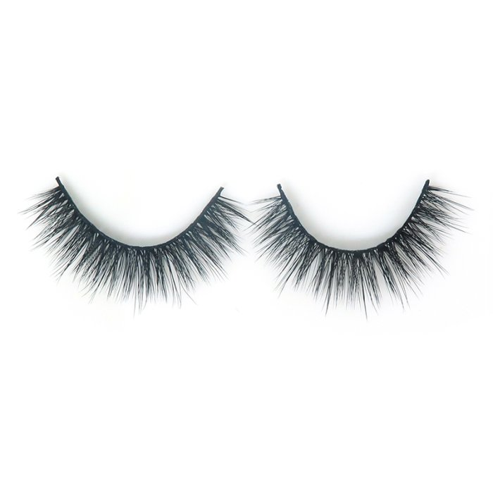 DE01---3D faux mink lashes black band