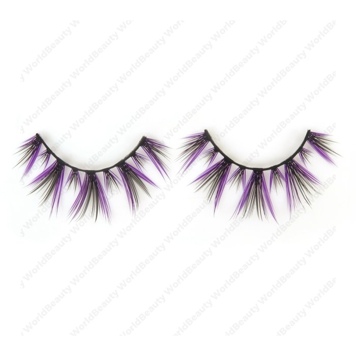 Double layer colored silk false lashes--KSE-235-Z