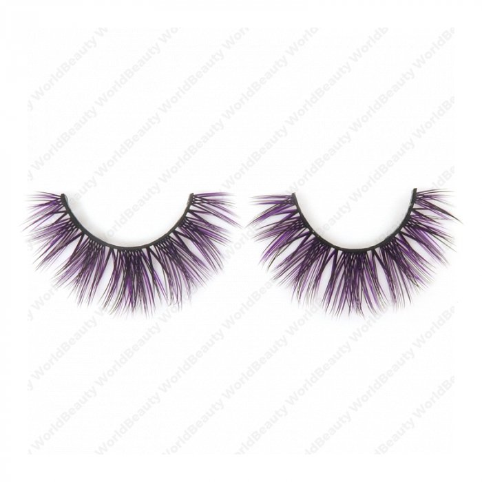Double layer colored silk false lashes--KSE-121-Z