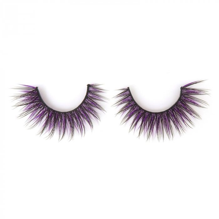 Double layer colored silk false lashes--KSE-222-Z