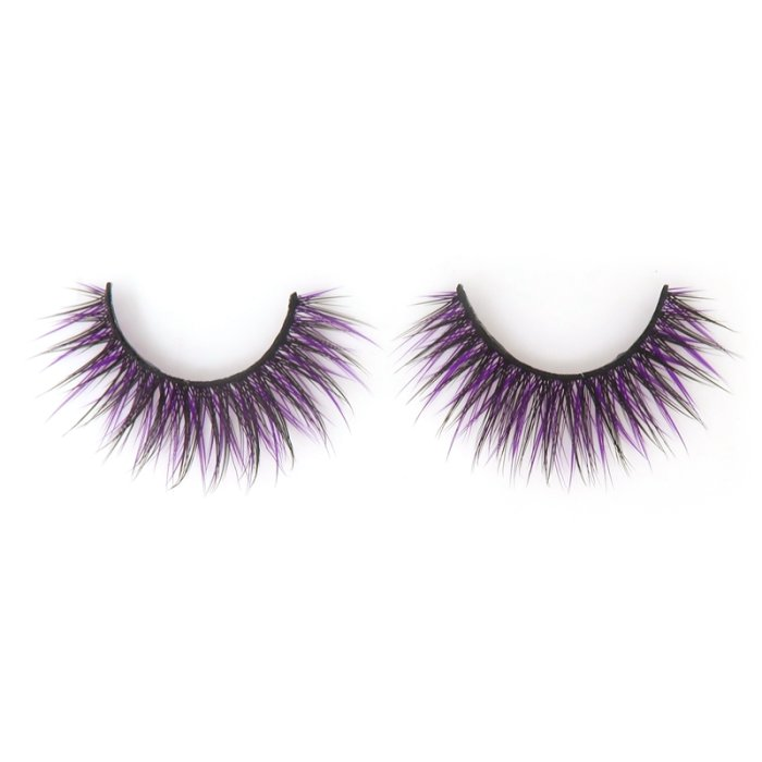 Double layer colored silk false lashes--KSE-220-Z