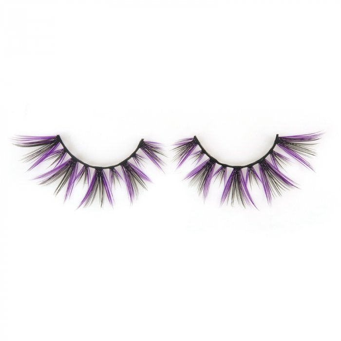 Double layer colored silk false lashes--KSE-236-Z
