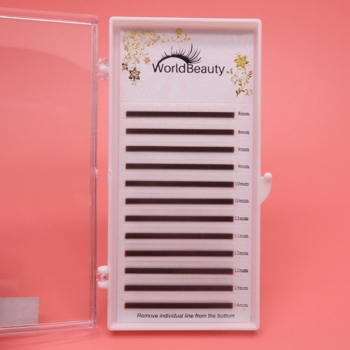 0.07mm D curl White color eyelash extensions