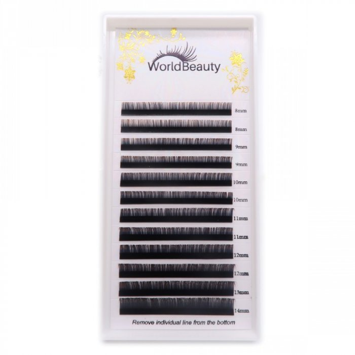 0.07mm D curl Black-Coffee color eyelash extensions