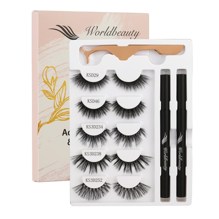 Eyelash glue pen & gm eyelashes- Set 7