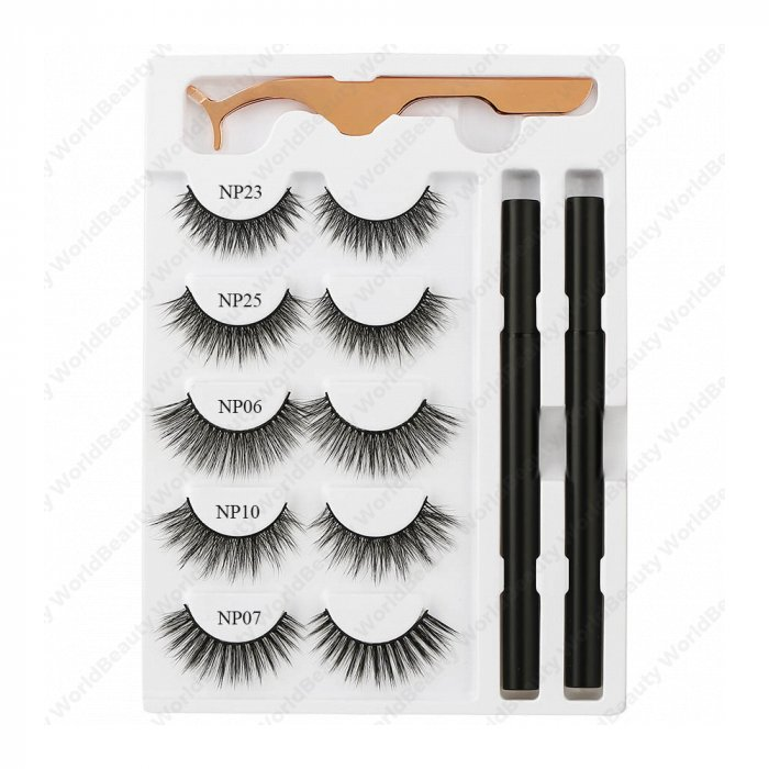 Eyelash glue pen and lashes kit-private label