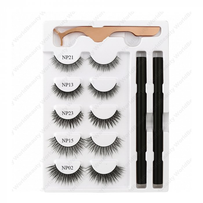 Adhesive eyeliner and lashes kit - Set 1