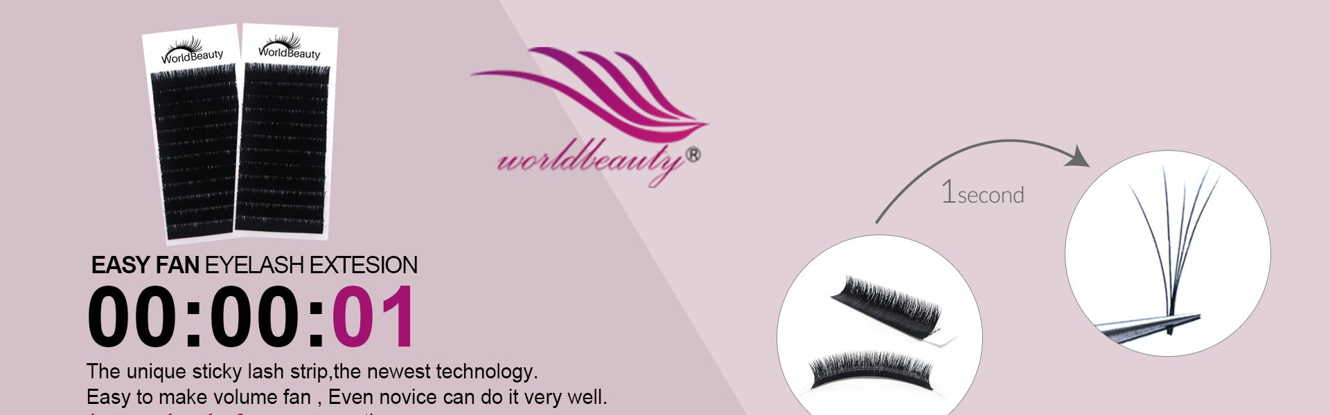 World beauty lashes-Biggest eyelash manufacturer in China